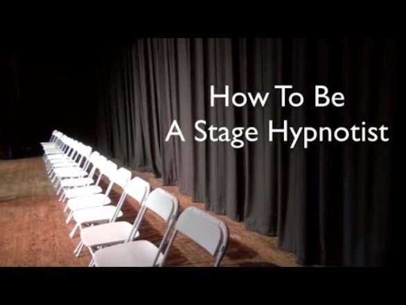 How to be a comedy stage hypnotist