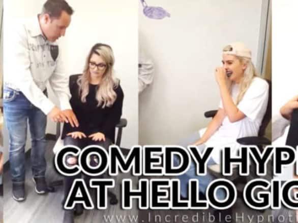 Comedy Hypnotist Hypnotizes Ladies at Hello Giggles - Richard Barker