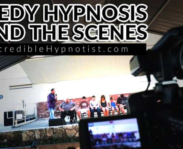 Comedy Stage Hypnotist at a Fair a Behind the Scenes Look at a Stage Hypnotist on the Road by Richard Barker