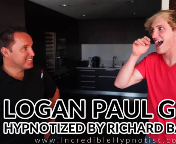 Logan Paul Hypnotized by Comedy Stage Hypnotist